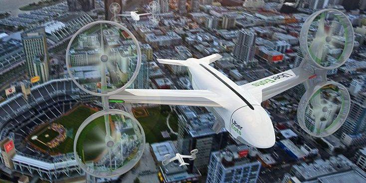 Uber запускает сервис доставки еды дронами